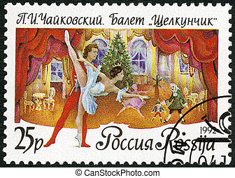 """RUSSIA - 1992: shows a scene from the ballet """"The ..."""