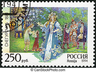 """RUSSIA - 1994: shows an episode from the opera """"The Snow Maiden"""""""