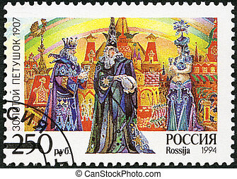 """RUSSIA - 1994: shows an episode from the opera """"The Golden Cocke"""