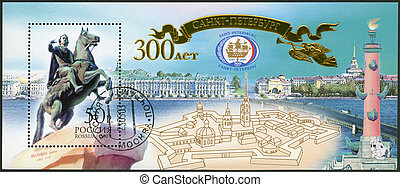 RUSSIA - 2003: shows the 300th anniversary of St.Petersburg