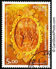 RUSSIA - 2004: shows amber room the state museum tzarskoje selo