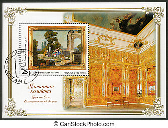 RUSSIA - 2004: shows amber room the state museum tzarskoje selo