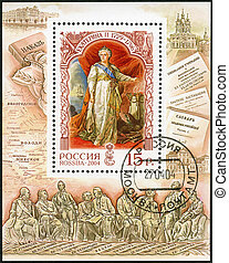 RUSSIA - 2004: shows Catherine II Alekseevna (1729-1796), empres