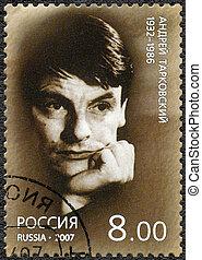 RUSSIA - 2007: shows Andrei Tarkovsky (1932-1986) - RUSSIA -...