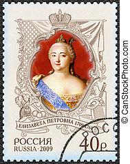 RUSSIA - 2009: shows The 300th anniversary of birth of Elizaveta