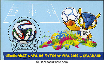 RUSSIA - 2014: dedicated the 2014 FIFA World Cup Brazil, June 12