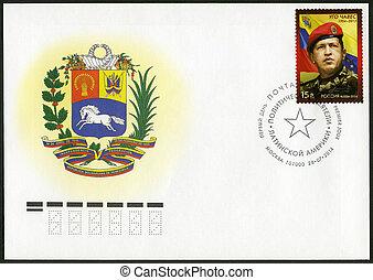 RUSSIA - 2014: shows Hugo Rafael Chavez (1954-2013), President o