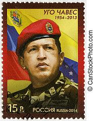 RUSSIA - 2014: shows Hugo Rafael Chavez (1954-2013),...