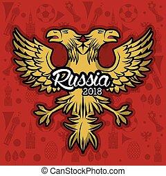 Russia 2018 emblem design