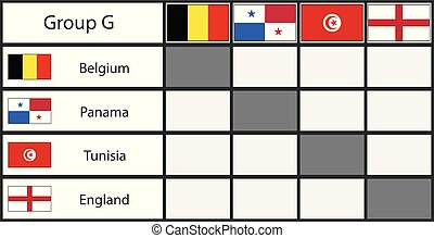 Russia 2018 football group stage template