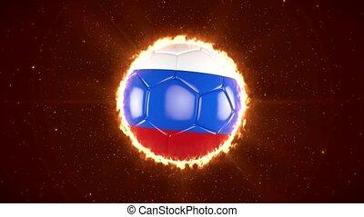 Russia 2018 Football. World Sport Event. 4K Video Animation....