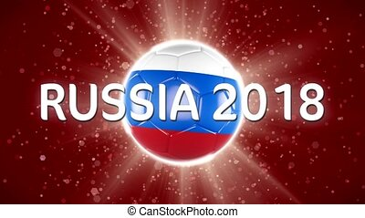 Russia 2018 Football. World Sport Event. 4K Video Animation....