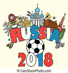 Russia 2018. Russian symbols