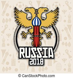 Russia 2018 tourism design