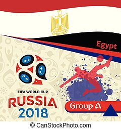 Russia 2018 WC Group A Egypt Background Vector