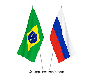 Russia and Brazil flags