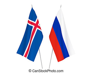 Russia and Iceland flags
