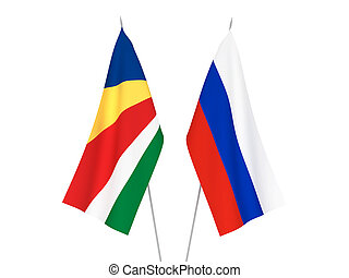 Russia and Seychelles flags - National fabric flags of ...
