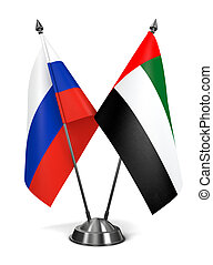 Russia and United Arab Emirates - Miniature Flags. - Russia...