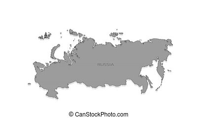 Russia animated map with alpha channel. - Stylish and modern...