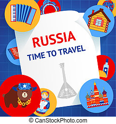 Russia background template - Russia culture elements time to...