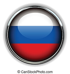 Russia button - Russia flag button
