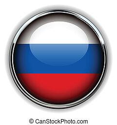 Russia button - Russia flag button