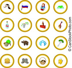Russia cartoon icon circle