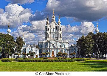 russia., catedral, st. nicholas, saint-petersburg