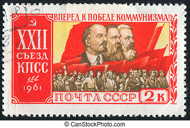 Lenin - RUSSIA - CIRCA 1961: stamp printed by Russia, shows ...