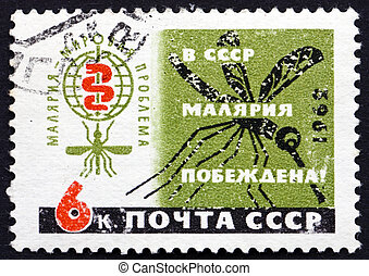 RUSSIA - CIRCA 1962: a stamp printed in the Russia shows...