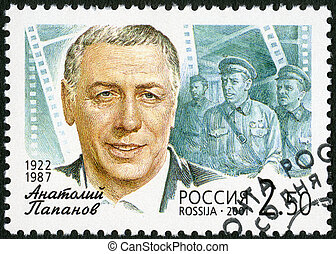 RUSSIA - CIRCA 2001: A stamp printed in Russia shows Anatoly D.