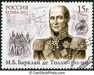 RUSSIA - CIRCA 2011: A stamp printed in Russia shows The...