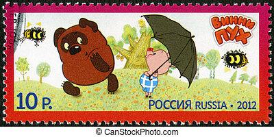 RUSSIA - CIRCA 2012: A stamp printed in Russia shows...