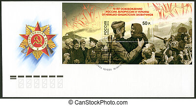 RUSSIA - CIRCA 2014: A stamp printed in Russia devoted The ...