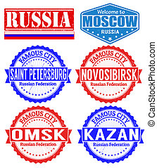 Russia cities stamps