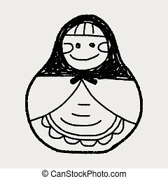 Russia doll doodle