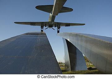 Russia. Dubna city. Attack plane IL-2