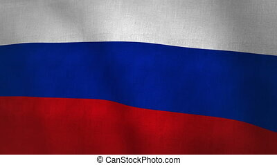 Russia Flag Background (Loop-able)