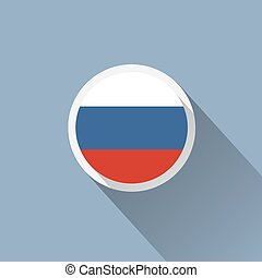 Russia Flag Button Icon