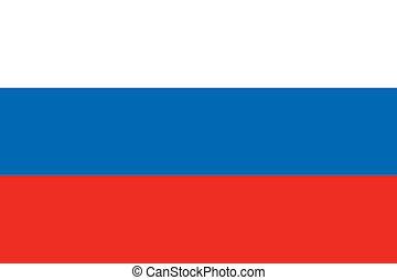 Russia flag - Vector Russian Federation flag