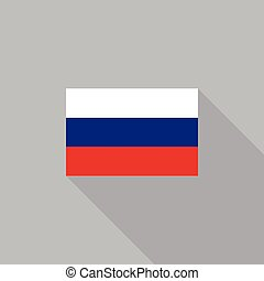 Russia flag flat design vector illustration