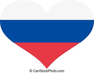 Russia flag heart