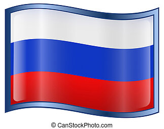 Russia Flag Icon, isolated on white background