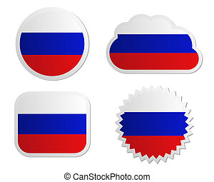 Russia flag labels