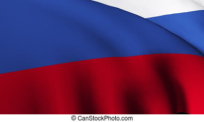 Russia flag moving