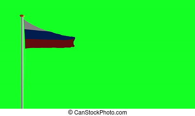 Russia flag on green screen