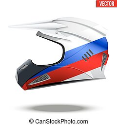 Russia Flag on Motorcycle Helmets