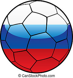 Russia flag on soccer ball