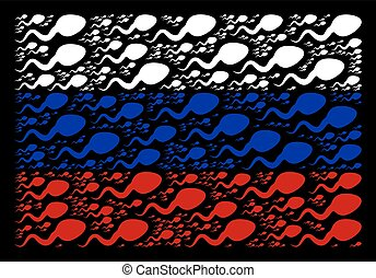 Russia Flag Pattern of Spermatozoon Items - Russian national...